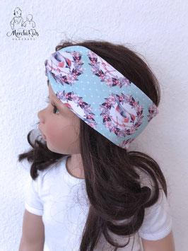 "Haarband Stirnband ""Vögel mint"""
