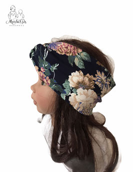 """Haarband Stirnband Knotenband """" Blumen groß"""""""