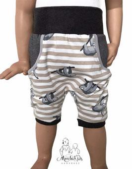 "Kurze Hose Baggy Pants "" Faultier mit Streifen """