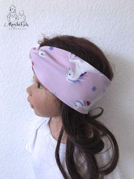 """Haarband Stirnband """"Einhorn lila"""""""