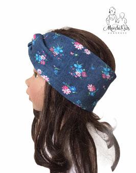 """Stirnband Haarband """" Rosen auf blau """""""
