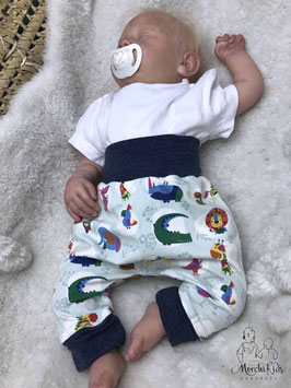"Baby Newborn Baggy Pants Hose "" bunte Tiere "" Größe 56"
