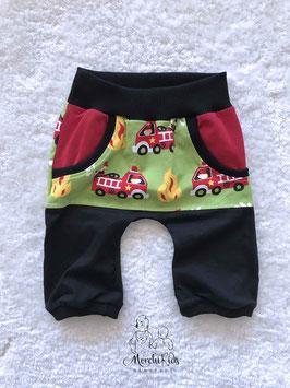"""Baby 3/4 Summer Pants """"Feuerwehr grün"""" Einzelstück Größe 74/80"""