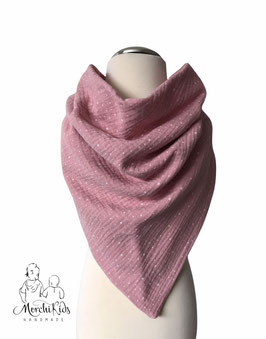 """Musselin Halstuch Dreieckstuch """" rosa gepunktet """" Größe ca. 70 x 115 cm"""
