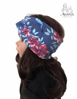 """Haarband Stirnband """" Blumen mit Schwalben Vogel """""""