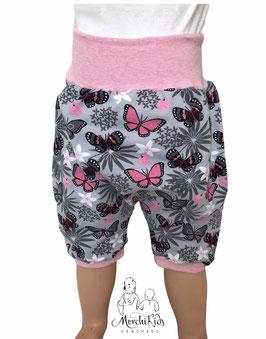 "Kurze Hose Baggy Pants "" Schmetterlinge rosa """
