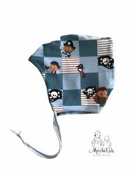 """Baby Zipfelmütze zum wenden """"Pirat / Schiffe"""" Einzelstück Kopfumfang 44-46"""
