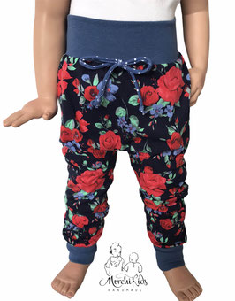 "Baggy Pants Pumphose "" Rosen blau / rot """