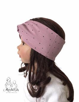 "Stirnband Haarband "" altrosa gepunktet "" KU 45-58"