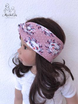 "Haarband Stirnband ""Vögel altrosa"""