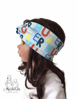 """Stirnband Haarband """" Buchstaben """" KU 49-58"""
