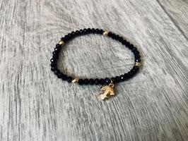 Perlenarmband Frindship black