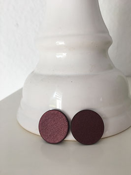 Cabochon Ohrstecker flach in 20mm (Aubergine red)