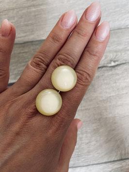 Ohrstecker oder Ohrclips matt in 20mm ( shiny lemon yellow)
