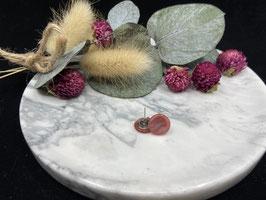 Ohrstecker flach in 12mm (shiny rosa flach 39 )