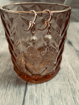 Ohrring gold  (  Perlen Mndala klein)
