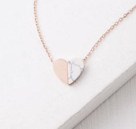 Alexis Roségold Halskette mit Herzanhänger
