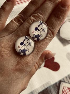Ohrstecker oder Ohrclips in 12mm, 14mm, 16mm, 20mm und 25mm (Mickey und Minni nude)