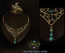 Le collier Jaspe impérial bleu