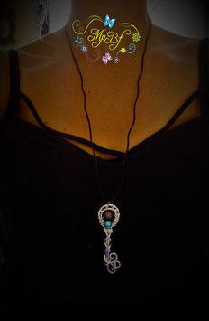 Clé double perles