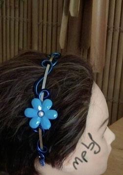 Serre tête Fleur Bleue