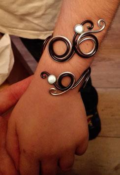 Bracelet enfant perles bleues