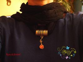 Bijou de foulard perle rouge
