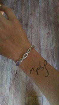 Bracelet Infini argenté