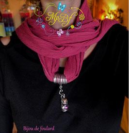 Bijou de foulard fiole en verre