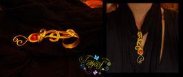 Bijou de foulard Arabesque doré