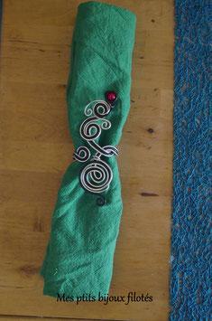 Rond de serviette tressé