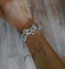 Bracelet double argenté