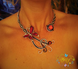 Le Collier red butterfly