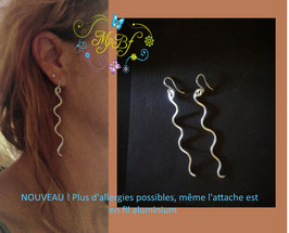 Boucles d'oreille sans allergies !