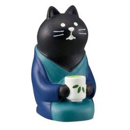 旅猫 日本茶 黒猫