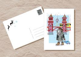 PostkarteSchneebär