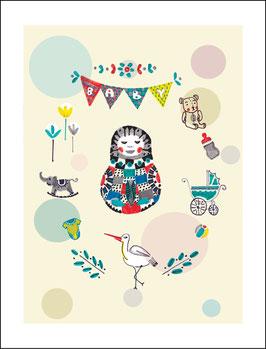 Postkarte Bebelinka