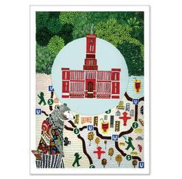Postkarte Rotes Rathaus