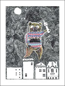 Postkarte Bärlin by night