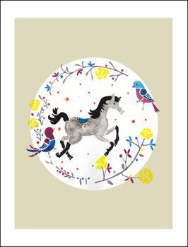 Postkarte Pferdchen lauf