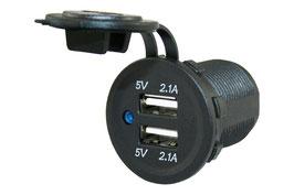 12 Volt USB lader met schroefaansluiting