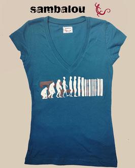"T-shirt collection Femme ""Evolution"" blue"
