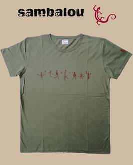 "T-shirt ""Petit bonhomme"" green"