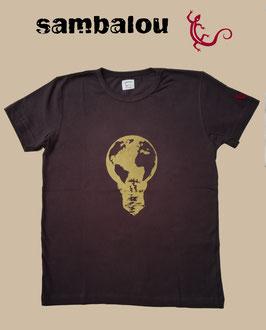 """T-shirt """"Ampoule"""" brown"""