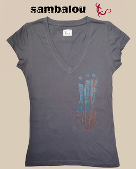 "T-shirt collection Femme ""Danseuses"" grey"