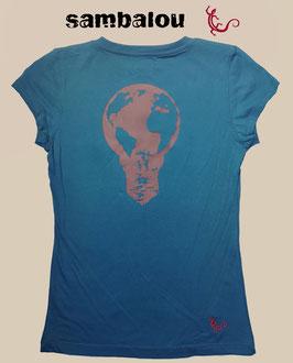 """T-shirt collection femme """"Ampoule"""" blue"""