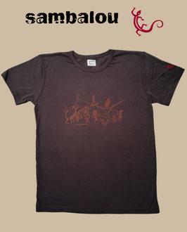 """T-shirt """"Sambadance"""" brown"""