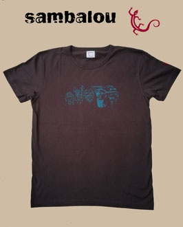 "T-shirt ""5continents"" brown"
