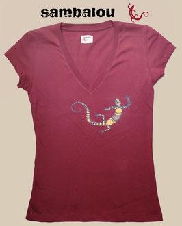 "T-shirt collection Femme ""Salamandre 2 colors"" red"