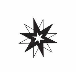 3fach-Stern schwarz